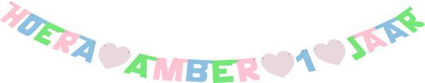 Hoera Amber 1 jaar