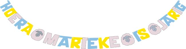 Hoera Marieke is jarig