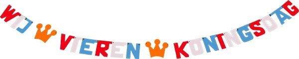koningsdag koninginnedag koningsspelen kroningsdag koning koningin 27 april 27april feestslinger tekstslinger kroontje naamslinger kroon