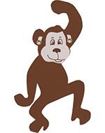 aap chimpansee slingeraap  naamslinger tekstslinger apenheul feestslinger dierentuin knuffelaap