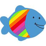 vis visje van de zee nemo regenboogvis tekstslinger naamslinger feestslinger