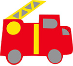 brandweer brandweerauto brandweerwagen  naamslinger tekstslinger