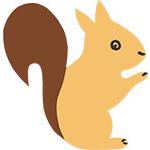 eekhoorn dier feestslinger naamslinger tekstslinger