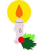 kaars kerst feestdagen feestslinger naamslinger tekstslinger kerstmis kerstslinger