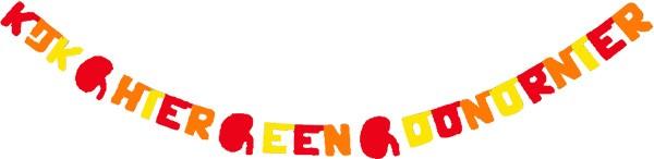 kleuren: rood - oranje - geel