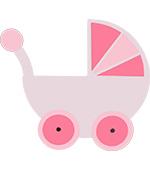 kinderwagen wandelwagen naamslinger tekstslinger feestslinger geboorte wieg geboorteslinger