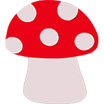 paddestoel rood met witte stippen herfst feestslinger naamslinger tekstslinger