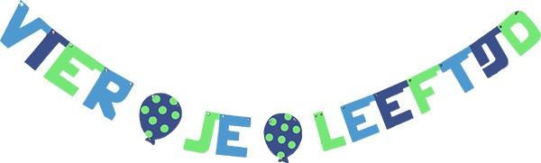 kleuren: azuur blauw - donker blauw - mint groen