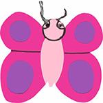vlinder voorjaar tekstslinger feestslinger naamslinger insect vlindertuin tuin