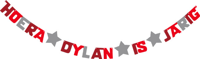 Hoera Dylan is jarig