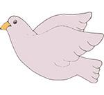duif vogel meeuw naamslinger tekstslinger feestslinger vrede