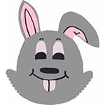 konijn haas hazetanden gebit knaagdier dier boerderij boerderijdier paashaas kinderboerderij pasen tekstslinger naamslinger feestslinger