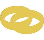 ringen trouwen bruiloft naamslinger tekstslinger feestslinger