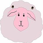 schaap lam lammetje schaapje dier boerderij boerderijdier herder kinderboerderij kudde tekstslinger naamslinger feestslinger