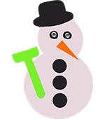 sneeuwpop winterpret sneeuwpret ijspret thema sneeuw winter tekstslinger feestslinger naamslinger