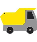 zandauto zandwagen kiepauto kiepwagen grindauto kipwagen kipauto grindwagen feestslinger tekstslinger naamslinger
